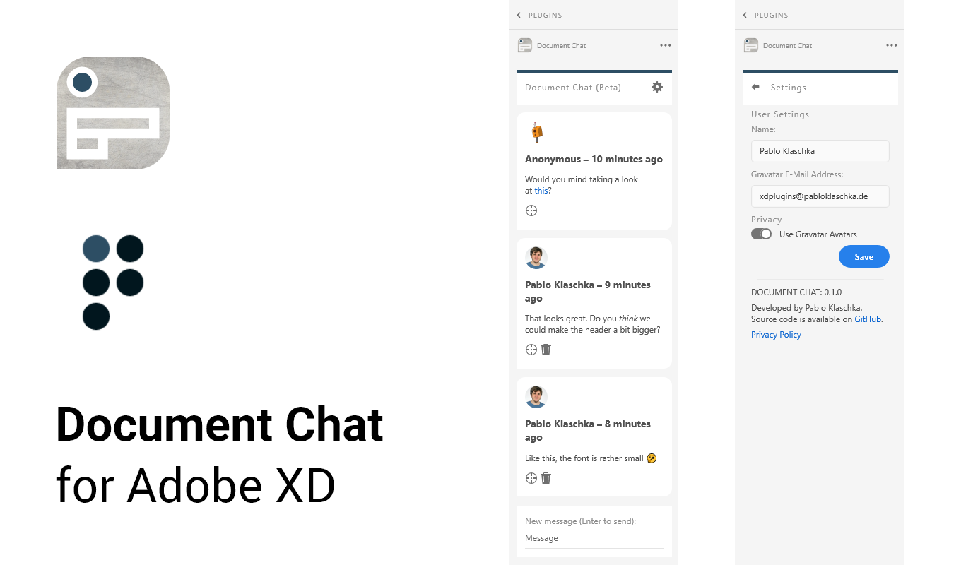 Document Chat for Adobe XD Banner